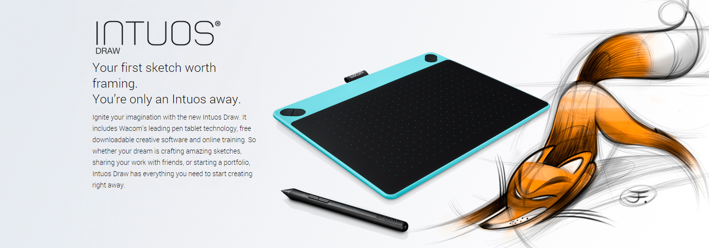 Intuos Draw Mint Blue