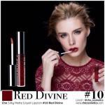 Cho Silky Matte Liquid Lipstick (10 Red Divine สีแดงแบบไวน์แดง)