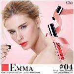 Cho Silky Matte Liquid Lipstick (04 Emma สีส้มสด)