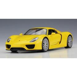 ขาย พรีออเดอร์ โมเดลรถเหล็ก โมเดลรถยนต์ Porsche 918 Spyder สีเหลือง 1:24 มี โปรโมชั่น