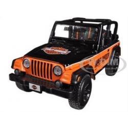 พรีออเดอร์ รถเหล็ก รถโมเดล US JEEP WRANGLER RUBICON HARLEY สีส้ม Special Edition Maisto สเกล 1:27