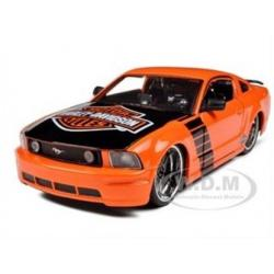พรีออเดอร์ รถเหล็ก รถโมเดล US 2006 FORD MUSTANG GT HARLEY สีส้ม Special Edition Maisto สเกล 1:24