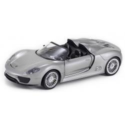 ขาย พรีออเดอร์ โมเดลรถเหล็ก โมเดลรถยนต์ Porsche 918 spyder เทา สเกล 1:24 มี โปรโมชั่น