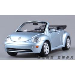 ขาย พรีออเดอร์ โมเดลรถเหล็ก โมเดลรถยนต์ VW New Beetle เงินฟ้า 1:25 สเกล มี โปรโมชั่น