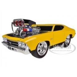 พรีออเดอร์ รถเหล็ก รถโมเดล US Muscle 1969 CHEVROLET CHEVELLE SS สีเหลือง Maisto สเกล 1:24
