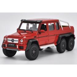 ขาย pre-order โมเดลรถเหล็ก Benz G63 6*6 amg สีแดง 1:24 มี โปรโมชั่น