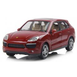 ขาย พรีออเดอร์ โมเดลรถเหล็ก โมเดลรถยนต์ Porsche Cayenne แดง 1:24 มีโปรโมชั่น