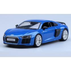 พรีออเดอร์ โมเดลรถเหล็ก โมเดลรถยนต์ Audi R8 V10 Plus น้ำเงิน 1:24 มี โปรโมชั่น
