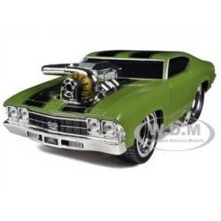 พรีออเดอร์ รถเหล็ก รถโมเดล US Muscle 1969 CHEVROLET CHEVELLE SS สีเขียว Maisto สเกล 1:24