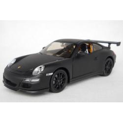 ขาย พรีออเดอร์ โมเดลรถเหล็ก โมเดลรถยนต์ Porsche 911 GT3 ดำด้าน 1:24 มีโปรโมชั่น