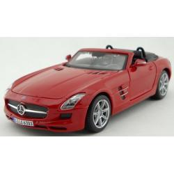 ขาย พรีออเดอร์ โมเดลรถเหล็ก โมเดลรถยนต์ Benz SLS AMG แดง 1:24 สเกล มี โปรโมชั่น