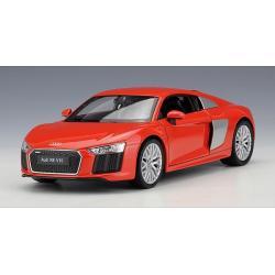 พรีออเดอร์ โมเดลรถเหล็ก โมเดลรถยนต์ Audi R8 V10 แดง 1:24 มี โปรโมชั่น