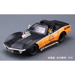 ขาย พรีออเดอร์ โมเดลรถเหล็ก โมเดลรถยนต์ 1970 Chevrolet สีดำด้าน 1:24 มี โปรโมชั่น