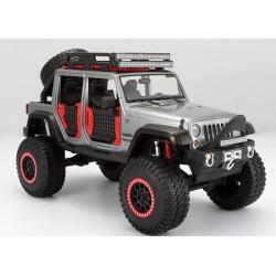 ขาย พรีออเดอร์ โมเดลรถเหล็ก โมเดลรถยนต์ Jeep Wrangler Modified Offroad สีเงิน 1:24 สเกล มี โปรโมชั่น