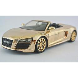 ขาย พรีออเดอร์ โมเดลรถเหล็ก โมเดลรถยนต์ Audi R8 ทอง Spyder 1:24 สเกล มี โปรโมชั่น