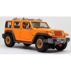 Pre Order โมเดลรถ Jeep Wrangler ส้ม 1:18 รุ่นหายากสุดๆ มีโปรโมชั่น