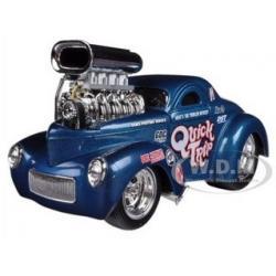 พรีออเดอร์ รถเหล็ก รถโมเดล US Muscle 1941 Willys Coupe Blue Maisto สเกล 1:24