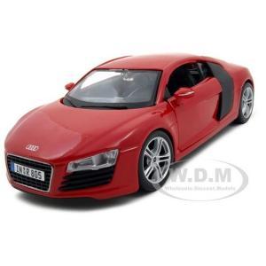 ขาย พรีออเดอร์ โมเดลรถเหล็ก โมเดลรถยนต์ Audi R8 แดง สเกล 1:24 มี โปรโมชั่น