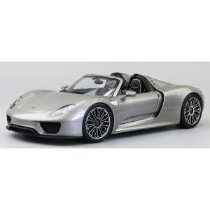 Pre Order โมเดลรถ Porsche 918 เปิด ปิด ประทุน เงิน 1:18 รุ่นหายากสุดๆ มีโปรโมชั่น