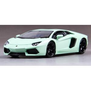 ขาย พรีออเดอร์ โมเดลรถเหล็ก Lamborghini Aventador สีเขียวอ่อน 1:24 มี โปรโมชั่น