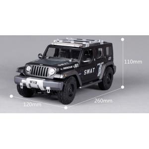 Pre Order โมเดลรถ Jeep หน่วย Swat ดำ 1:18 รุ่นหายากสุดๆ มีโปรโมชั่น