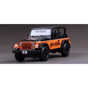 พรีออเดอร์ โมเดลรถเหล็ก โมเดลรถยนต์ Jeep Harley ส้ม 1:24 สเกล มี โปรโมชั่น