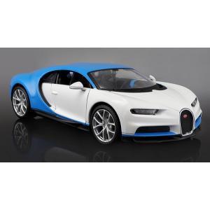 ขาย พรีออเดอร์ โมเดลรถเหล็ก โมเดลรถยนต์ Bugatti Chiron ฟ้า ขาว 1:24 สเกล มี โปรโมชั่น