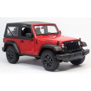 Pre Order โมเดลรถ Jeep Wrangler แดง 2014 1:18 รุ่นหายากสุดๆ มีโปรโมชั่น