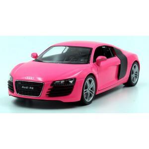 พรีออเดอร์ โมเดลรถเหล็ก โมเดลรถยนต์ Audi R8 ชมพู 1:24 มี โปรโมชั่น