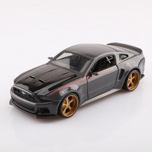 พร้อมส่ง โมเดลรถเหล็ก Ford Mustang Street Racer ปี 2014 ดำเทา สเกล 1:24 มีโปรโมชั่น
