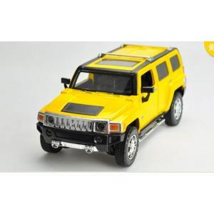 ขาย พรีออเดอร์ โมเดลรถเหล็ก โมเดลรถยนต์ Hummer H3 เหลือง 1:24 มี โปรโมชั่น