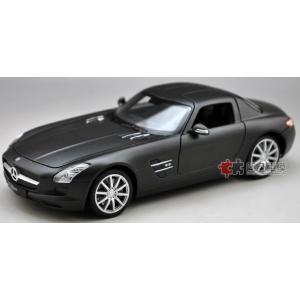 ขาย พรีออเดอร์ โมเดลรถ Benz SLS AMG ดำด้าน 1:24 สเกล มี โปรโมชั่น