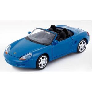 ขาย พรีออเดอร์ โมเดลรถเหล็ก โมเดลรถยนต์ Porsche boxster cabrio สีฟ้า 1:24 มี โปรโมชั่น