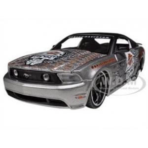 พรีออเดอร์ รถเหล็ก รถโมเดล US 2011 Ford Mustang GT Harley Special Edition สีเทา Maisto สเกล 1:24