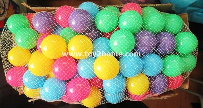 บอลสี 100 ลูก (ขนาด 2.8 นิ้ว)