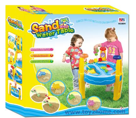 โต๊ะเล่นทราย เล่นน้ำ(ไซด์ใหญ่) + อุปกรณ์ครบชุด