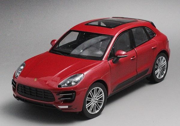 ขาย พรีออเดอร์ โมเดลรถเหล็ก โมเดลรถยนต์ Porsche Macan Turbo แดง 1:24 มีโปรโมชั่น