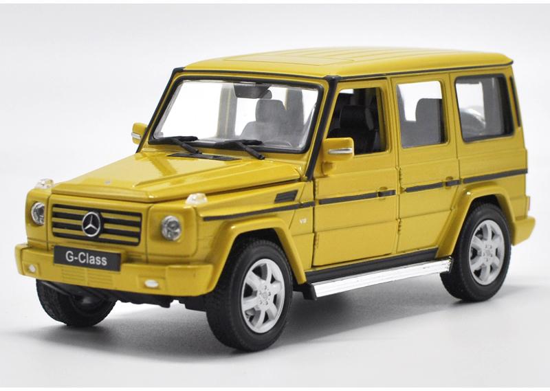 ขาย pre order โมเดลรถเหล็ก โมเดลรถยนต์ G500 1:24 เหลือง มี โปรโมชั่น