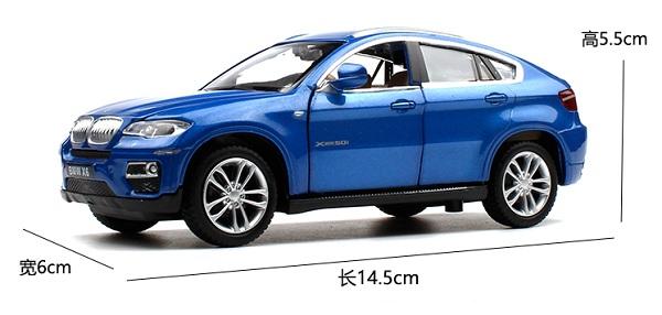 พร้อมส่ง รถโมเดล รถเหล็ก มีไฟมีเสียง BMW X6 1:32 มี โปรโมชั่น
