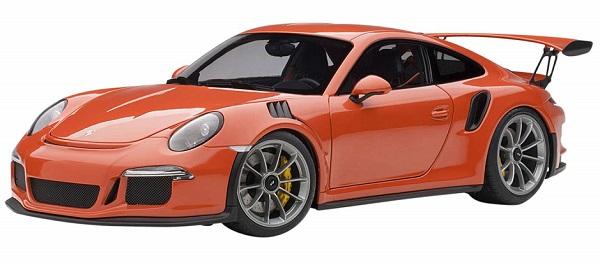 ขาย พรีออเดอร์ โมเดลรถเหล็ก โมเดลรถยนต์ Autoart Porsche 911 991 GT3 RS ส้ม สเกล 1:18 มี โปรโมชั่น