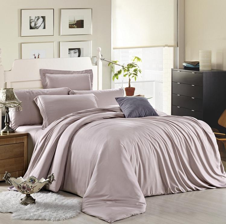 ผ้าปูที่นอน tencel สีพื้น สีน้ำตาลอ่อน