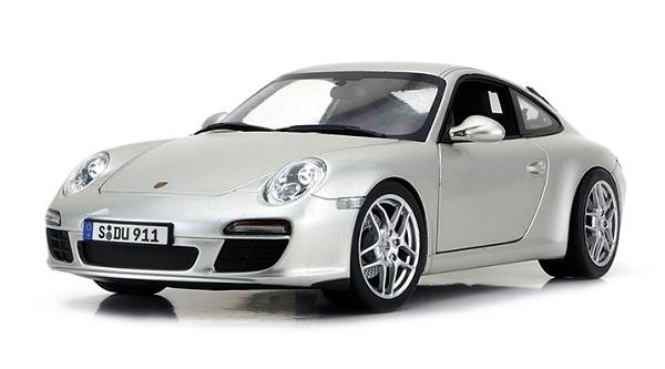 Pre Order โมเดลรถ Porsche 911 Carrera S เงิน 1:18 รุ่นหายากสุดๆ มีโปรโมชั่น
