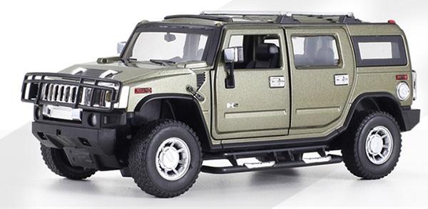 ขาย พรีออเดอร์ โมเดลรถเหล็ก โมเดลรถยนต์ Hummer H2 ทหาร 1:24 มี โปรโมชั่น