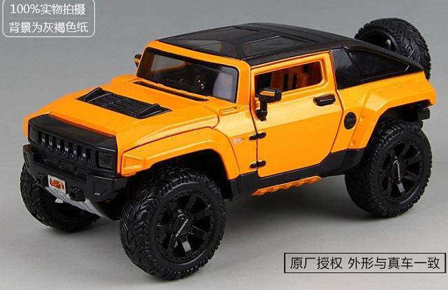 ขาย พรีออเดอร์ โมเดลรถเหล็ก โมเดลรถยนต์ Hummer HX ส้ม ปรับแต่งใหม่ สเกล 1:24 มี โปรโมชั่น