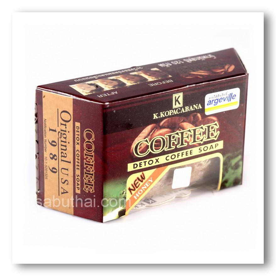 สบู่มาดามเฮง K.KOPACABANA สบู่เมล็ดกาแฟแท้ Detox Coffee Soap ต้นตำรับมาดามเฮง