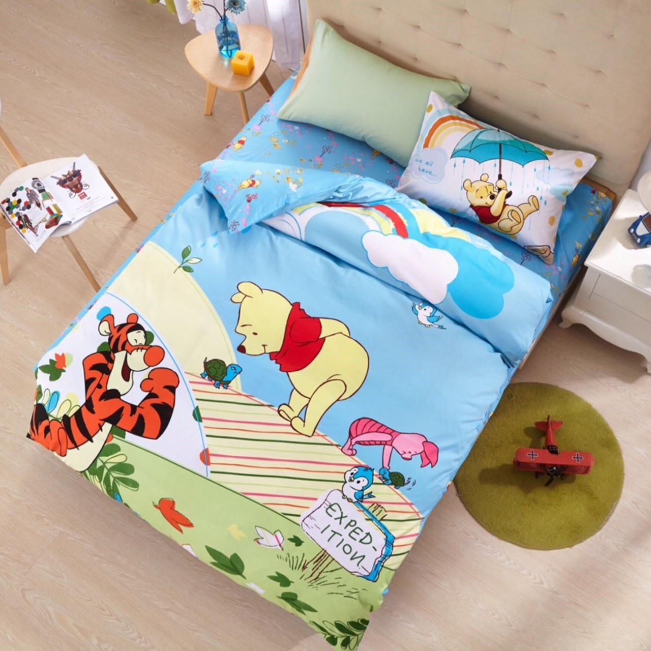 ผ้าปูที่นอน ลายหมีพูห์ Winnie the Pooh bedding Set
