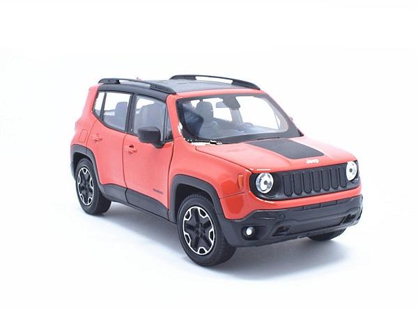 พรีออเดอร์ โมเดลรถเหล็ก โมเดลรถยนต์ Jeep Renegade TrailHawk แดง 1:24 มี โปรโมชั่น