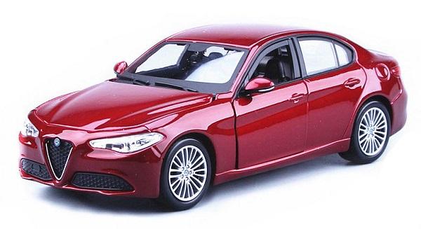 ขาย พรีออเดอร์ โมเดลรถเหล็ก โมเดลรถยนต์ Alfa Romeo Guilia แดง 1:24 มี โปรโมชั่น