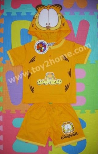 ชุดแฟนซีแมวการ์ฟิล (เสื้อ+กางเกง)