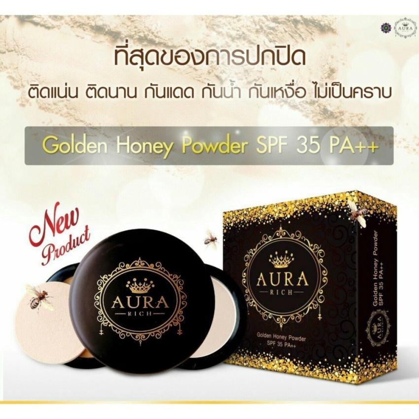 แป้ง Aura Rich Golden Honey Powder Spf35 Pa+++